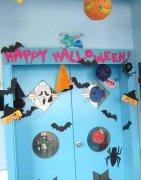 幼儿园万圣节环创图片_幼儿园万圣节教室墙面装饰:万圣节快乐_幼儿园布置网