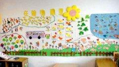 优发娱乐小班动物主题墙布置图片:在动物园里