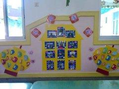 幼儿园我爱我家主题墙装饰图片