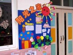 幼儿园走廊家园联系栏布置图片:阳光之家