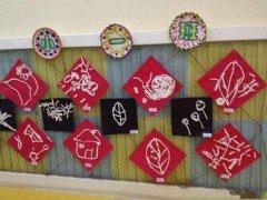 幼儿园作品展示墙布置图片