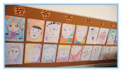 大班三八节主题活动_幼儿园作品展示墙布置图片_幼儿园作品墙设计图片