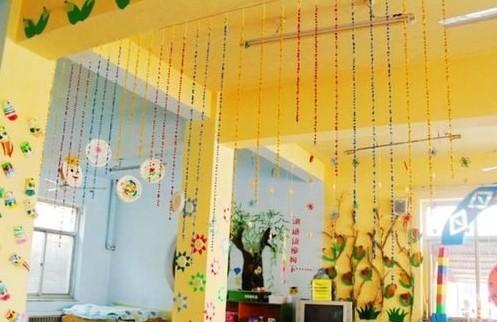 幼儿园吊饰布置:很漂亮的花边吊饰