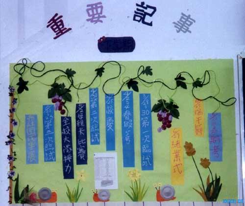 幼儿园宣传栏设计:葡萄藤