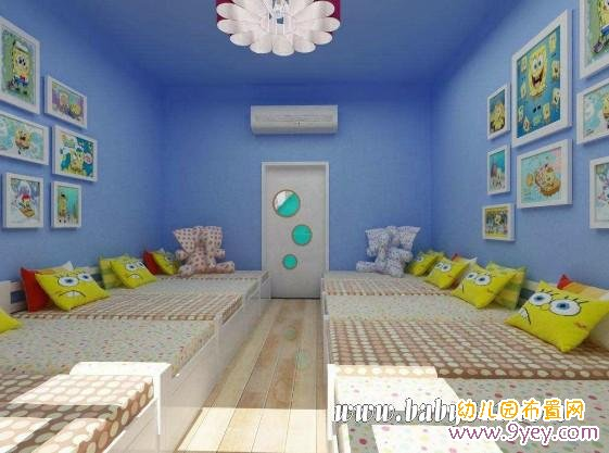 幼儿园午休室设计 海绵宝宝之家图片