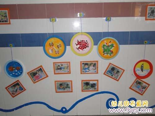 幼儿园走廊墙面装饰:温馨的宝宝照片墙