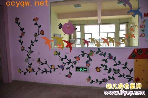 幼儿园小班走廊墙面布置:燕子归来