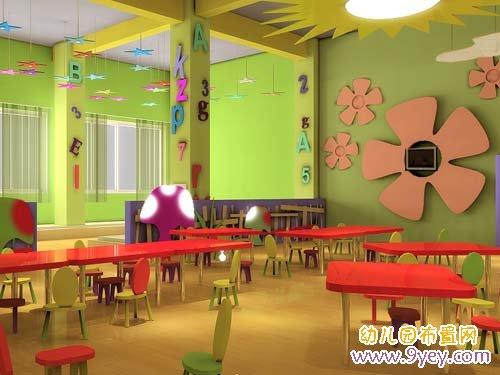 幼儿园室内环境布置:童真可爱_幼儿园布置网
