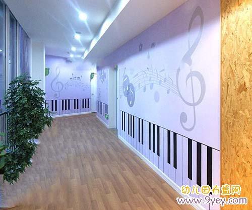 幼儿园音乐教室装饰:钢琴键