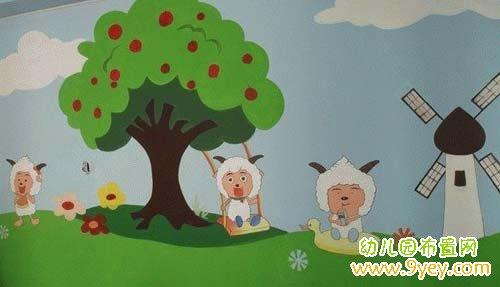 幼儿园卡通墙画
