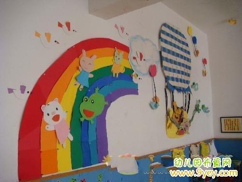 幼儿园大班亲子游戏_幼儿园活动室墙面卡通人物布置_幼儿园布置网