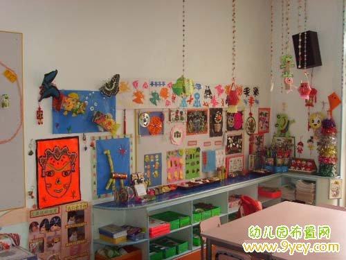 琅满目的幼儿园美工室区域布置