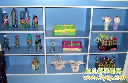 幼儿园美工区布置:美工作品柜