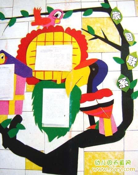 幼儿园小班家园联系栏设计