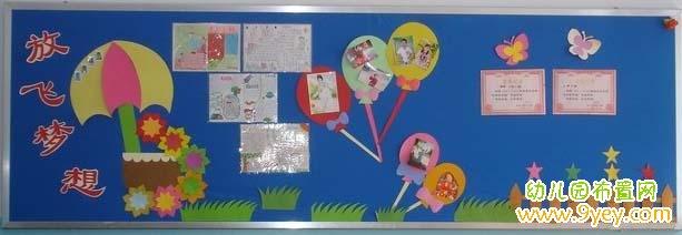 幼儿园黑板报:放飞梦想