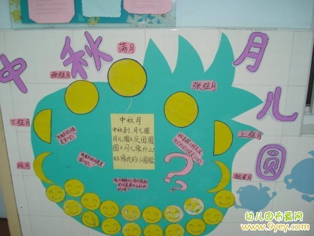 幼儿园中秋节手工展板展示