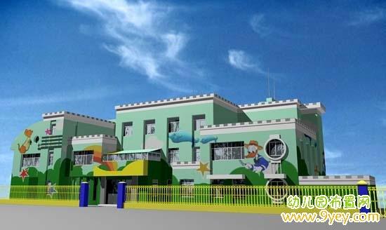 好看可爱的幼儿园外墙效果图