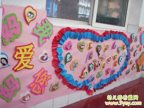幼儿园三八妇女节主题墙布置:妈妈我爱您