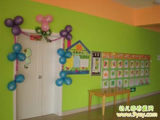 幼儿园六一儿童节教室窗户布置:简单漂亮