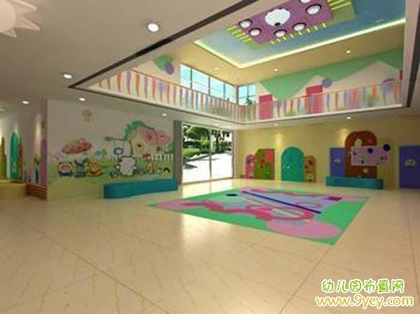 幼儿园活动大厅布置:宽敞大气