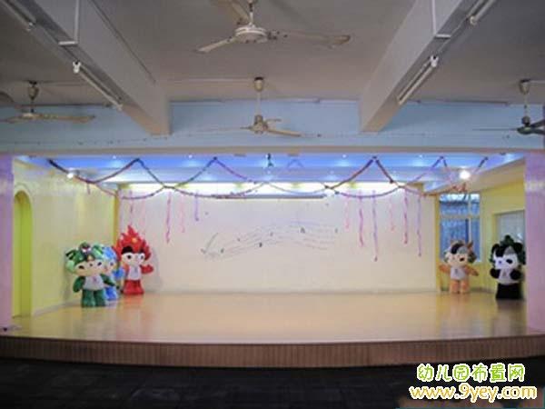 幼儿园晚会舞台布置:奥运福娃