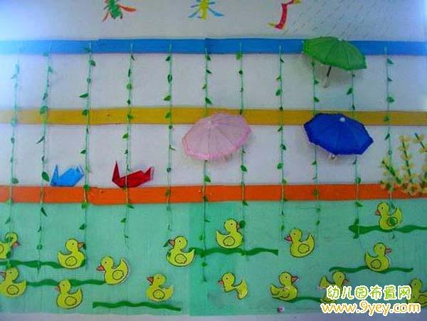 幼儿园春天主题墙饰设计:春来了