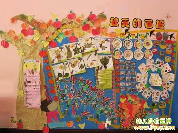 幼儿园秋天主题墙布置:秋天的画报