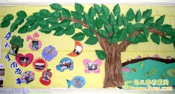 南徐新城幼儿园主题墙《热闹的夏天》有特色_乐乐简笔