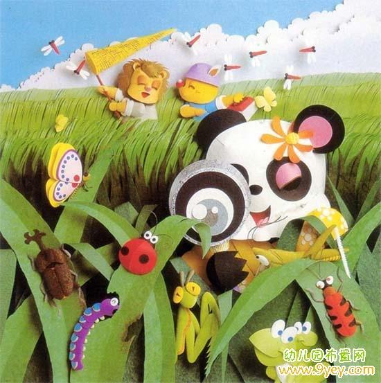 幼儿园夏天墙面布置:小动物们的夏季野外狂欢