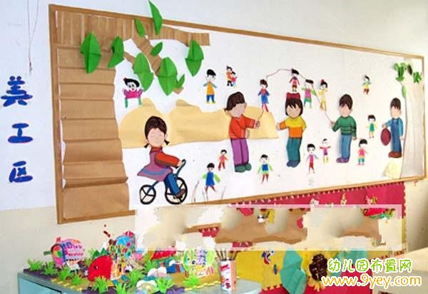 幼儿园中班美工区环境布置:很漂亮哦