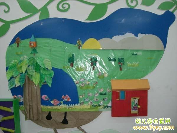 幼儿园中班夏天教室布置:葫芦里的家 www.9yey.com 宽 ...