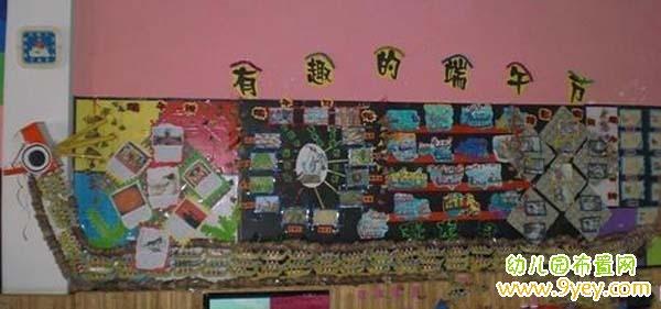 幼儿园端午节主题板报设计:有趣的端午节