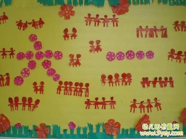 幼儿园六一节主题墙饰布置