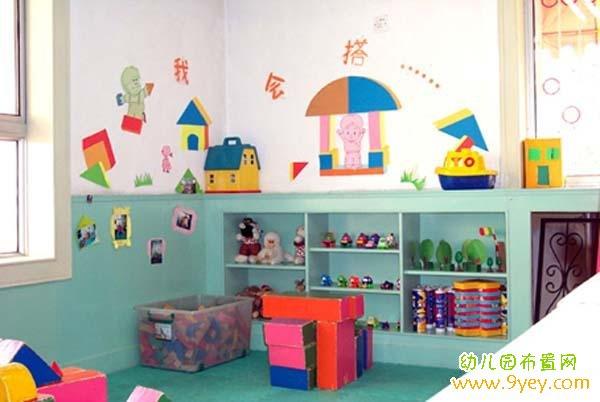 幼儿园大班建构区布置:我会搭