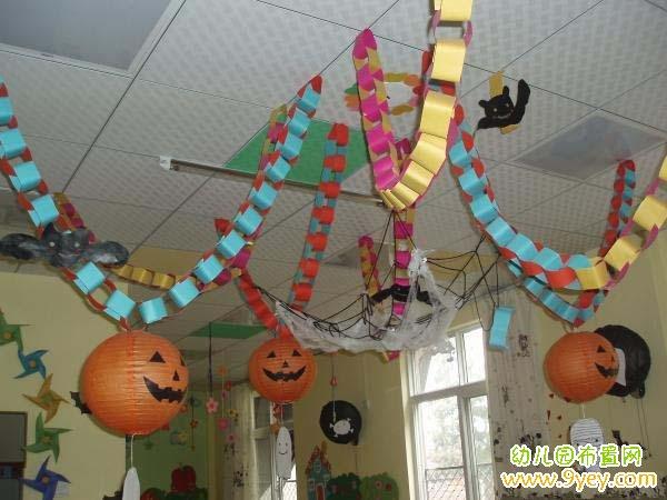 幼儿园万圣节教室环境布置图片