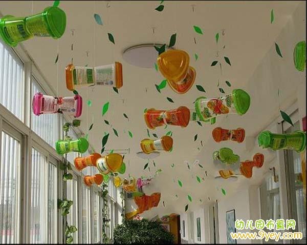 幼儿园植树节走廊吊饰装饰