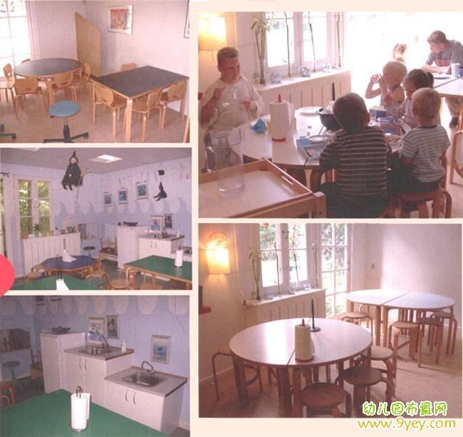 外国幼儿园餐厅环境布置图片大全