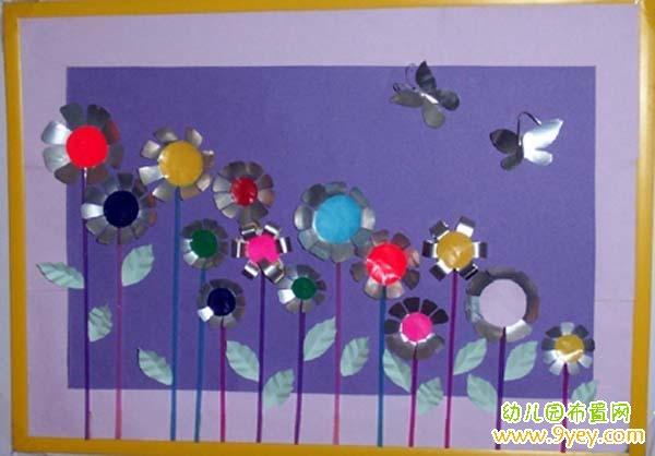 幼儿园圆形手工装饰