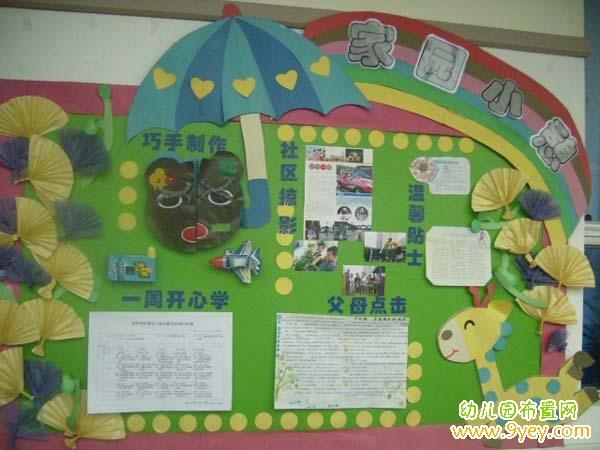 幼儿园学前班宣传栏设计