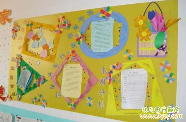 幼儿园中班布置设计图片