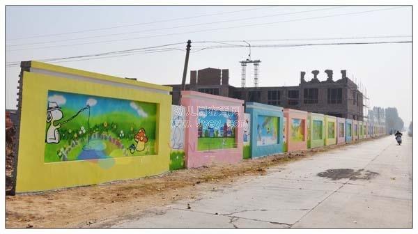 幼儿园围墙彩绘图片