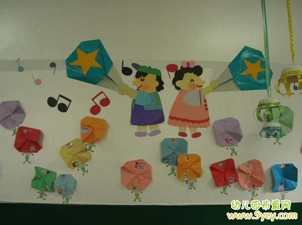 幼儿园大班教室墙面手工装饰