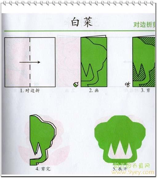 幼儿园手工剪纸图片:白菜