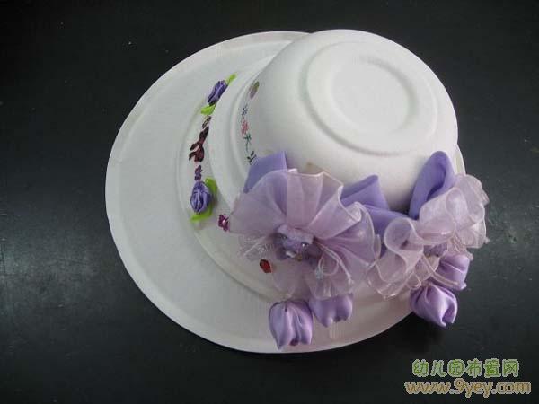 幼儿园手工制作图片:女式帽子