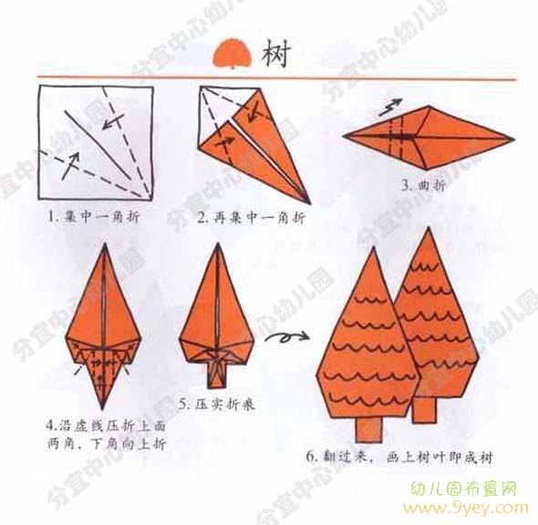 儿童折纸大全:树
