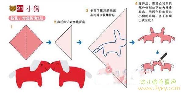 儿童剪纸图案大全:小狗