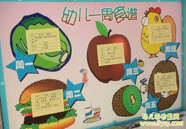 幼儿园食谱栏设计图片