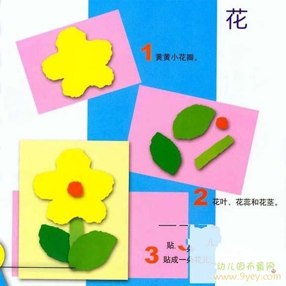 儿童关于花的手工制作方法_幼儿园布置网