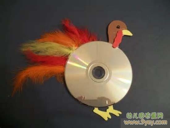 儿童废旧物品制作:火鸡