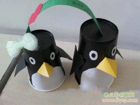 幼儿废旧物品手工:企鹅_幼儿园布置网